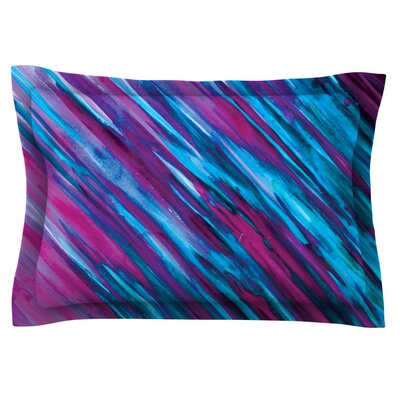 Set by Theresa Giolzetti Featherweight Pillow Sham Size: Queen, Color: Purple, Fabric: Cotton