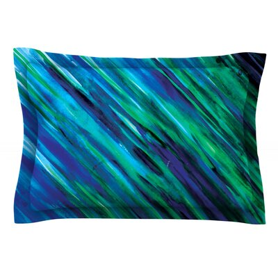 Set by Theresa Giolzetti Featherweight Pillow Sham Size: King, Color: Blue, Fabric: Cotton