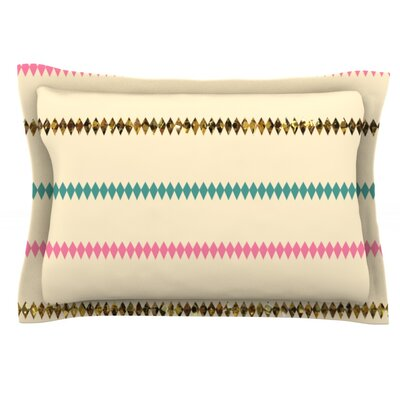 Diamonds by Skye Zambrana Featherweight Pillow Sham Size: Queen, Fabric: Cotton