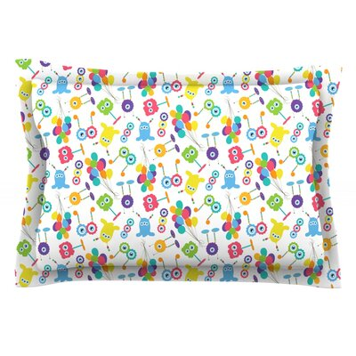 Fun Creatures by Laura Escalante Featherweight Pillow Sham Size: Queen, Fabric: Cotton