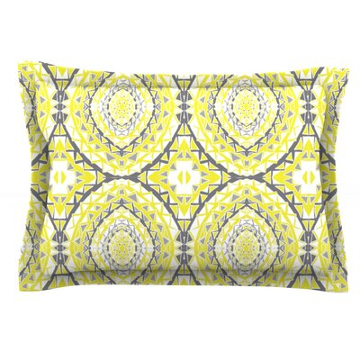 Yellow Tessellation by Miranda Mol Featherweight Pillow Sham Size: King, Fabric: Cotton