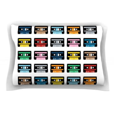 Rainbow Tapes by Project M Featherweight Pillow Sham Size: Queen, Fabric: Cotton