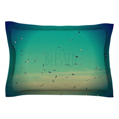 Blessed by Robin Dickinson Featherweight Pillow Sham Size: Queen, Fabric: Cotton