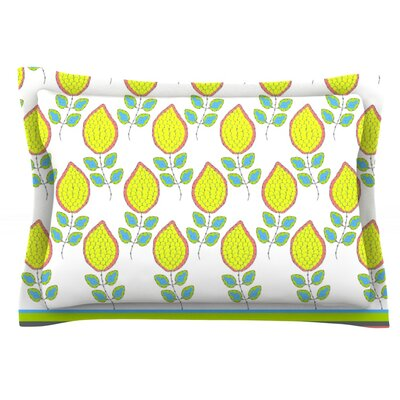 Yellow Leaves by Nandita Singh Featherweight Pillow Sham Size: Queen, Fabric: Cotton