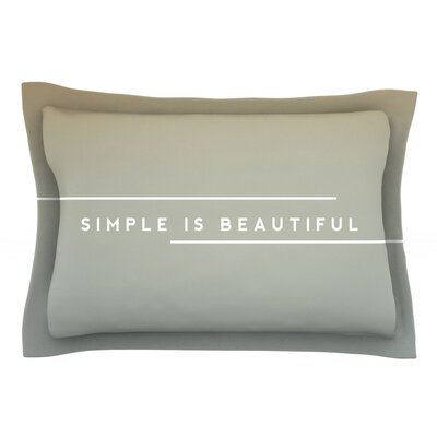 Simple Beautiful by Galaxy Eyes Featherweight Pillow Sham Size: Queen, Fabric: Cotton