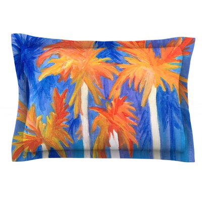 Florida Autumn by Rosie Brown Featherweight Pillow Sham Size: Queen, Fabric: Cotton