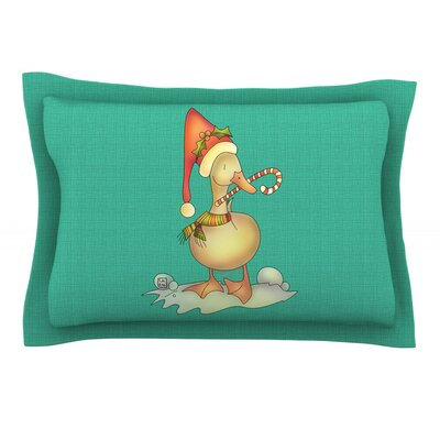 Xmas Duck by Carina Povarchik Featherweight Pillow Sham Size: King, Fabric: Cotton