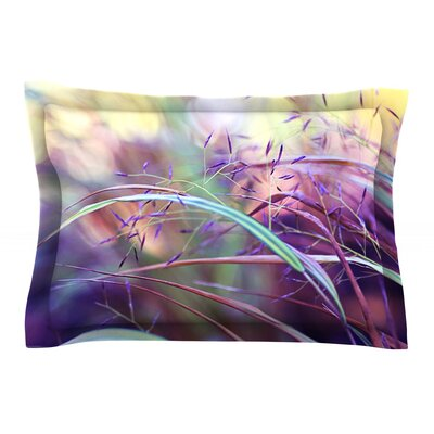Pretty Grasses by Sylvia Cook Featherweight Pillow Sham Size: Queen, Fabric: Cotton