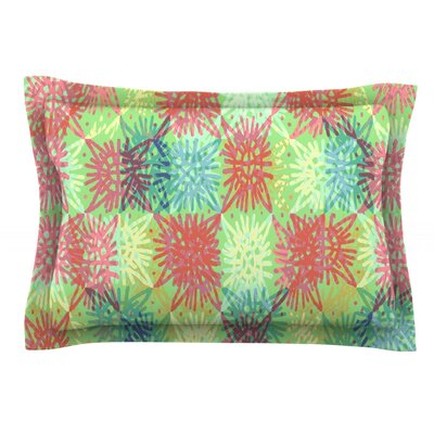 Multi Lacy by Laura Nicholson Featherweight Pillow Sham Size: Queen, Fabric: Cotton