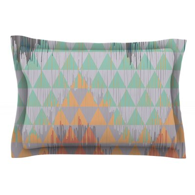Ikat Geometrie by Nika Martinez Featherweight Pillow Sham Size: King, Fabric: Cotton