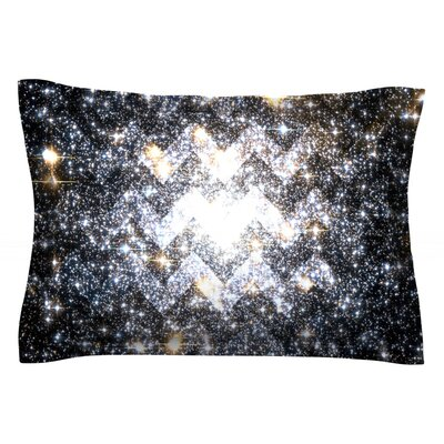 Messier Chevron by Suzanne Carter Featherweight Pillow Sham Size: King, Fabric: Cotton