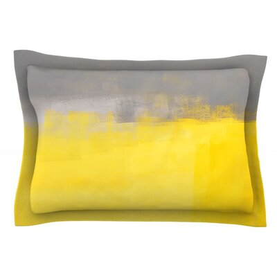 A Simple Abstract by CarolLynn Tice Featherweight Pillow Sham Size: Queen, Fabric: Cotton