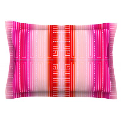 Deco City Blush by Nina May Featherweight Pillow Sham Size: Queen, Fabric: Cotton