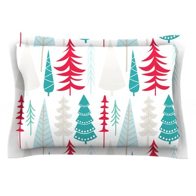 Happy Forest Featherweight Pillow Sham Size: Queen, Color: Red/Blue, Fabric: Cotton