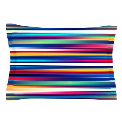 Blurry Lines by Danny Ivan Featherweight Pillow Sham Size: King, Fabric: Cotton
