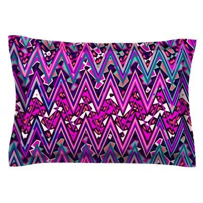 Pink Electric Chevron by Nika Martinez Featherweight Pillow Sham Size: King, Fabric: Cotton