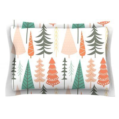 Happy Forest Featherweight Pillow Sham Size: Queen, Color: Orange/Green, Fabric: Cotton