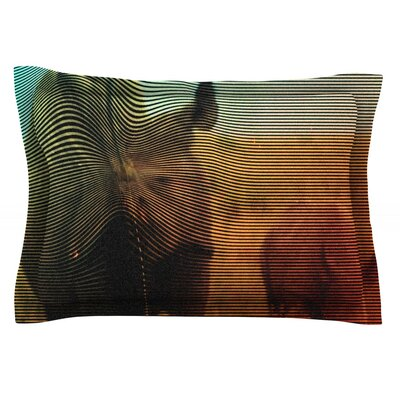 Abstract Rhino by Danny Ivan Featherweight Pillow Sham Size: Queen, Fabric: Cotton