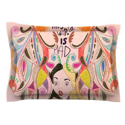 Alice in Wonderland by Vasare Nar Featherweight Pillow Sham Size: King, Fabric: Cotton