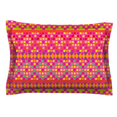 Mexicalli by Nika Martinez Featherweight Pillow Sham Size: Queen, Fabric: Cotton