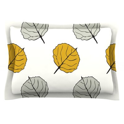 Quaking Leaf by Laurie Baars Featherweight Pillow Sham Size: Queen, Fabric: Cotton