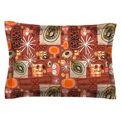 Vintage Kitchen by Jane Smith Featherweight Pillow Sham Size: Queen, Fabric: Cotton