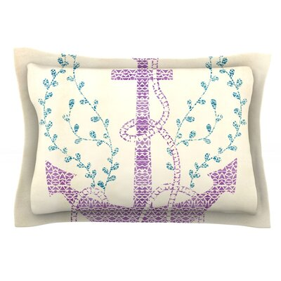Tribal Nautica II by Pom Graphic Design Featherweight Pillow Sham Size: Queen, Fabric: Cotton