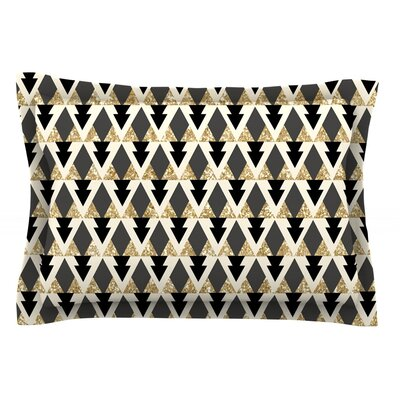 Glitter Triangles by Nika Martinez Featherweight Pillow Sham Size: Queen, Fabric: Cotton