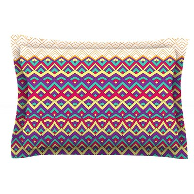 Horizons III by Pom Graphic Design Featherweight Pillow Sham Size: Queen, Fabric: Cotton