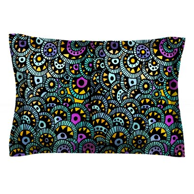 Peacock Tail by Pom Graphic Design Featherweight Pillow Sham Size: Queen, Fabric: Cotton