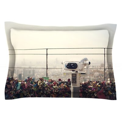 The View Seoul by Catherine McDonald Featherweight Pillow Sham Size: King, Fabric: Cotton