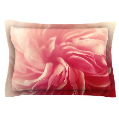 Pink Petals by Cristina Mitchell Featherweight Pillow Sham Size: King, Fabric: Cotton