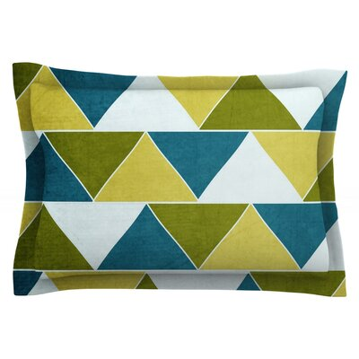 Mediterranean by Catherine McDonald Featherweight Pillow Sham Size: King, Fabric: Cotton