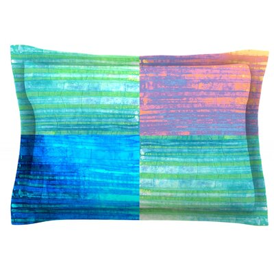 Crayon Batik by Nina May Featherweight Pillow Sham Size: King, Fabric: Cotton