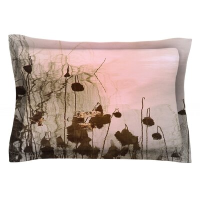 Lotus Dream by Marianna Tankelevich Featherweight Pillow Sham Size: Queen, Fabric: Cotton