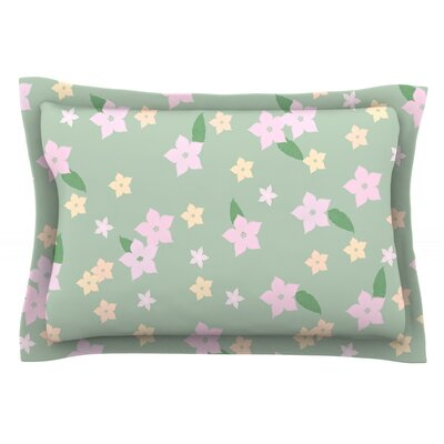 Spring Floral Featherweight Pillow Sham Size: Queen, Fabric: Cotton
