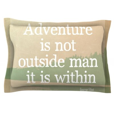 Adventure by Rachel Burbee Featherweight Pillow Sham Size: King, Fabric: Cotton