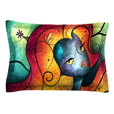 Andromeda by Mandie Manzano Featherweight Pillow Sham Size: King, Fabric: Cotton