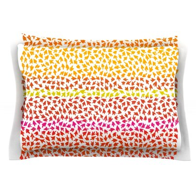 Sunset Arrows by Sreetama Ray Featherweight Pillow Sham Size: Queen, Fabric: Cotton