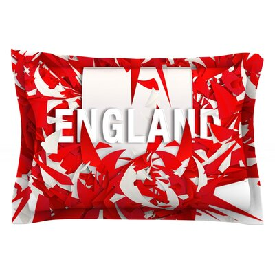 England by Danny Ivan Featherweight Pillow Sham Size: King, Fabric: Cotton
