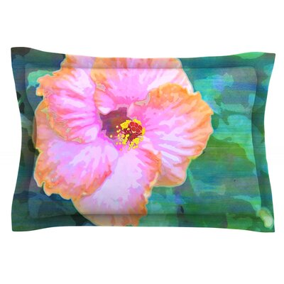 Hibiscus by Sylvia Cook Featherweight Pillow Sham Size: Queen, Fabric: Cotton