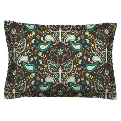 Butterfly Garden by Suzie Tremel Featherweight Pillow Sham Size: King, Fabric: Cotton