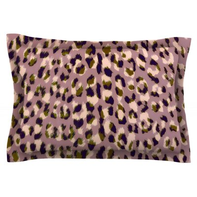 Leo Cheetah by Vasare Nar Featherweight Pillow Sham Size: King, Fabric: Cotton
