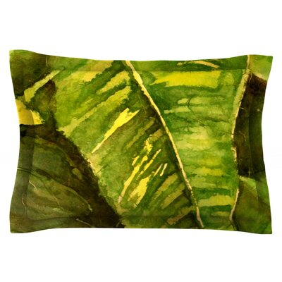 Tropical Garden by Rosie Brown Featherweight Pillow Sham Size: King, Fabric: Cotton