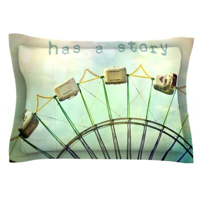 Every Summer Has a Story by Sylvia Cook Featherweight Pillow Sham Size: Queen, Fabric: Cotton