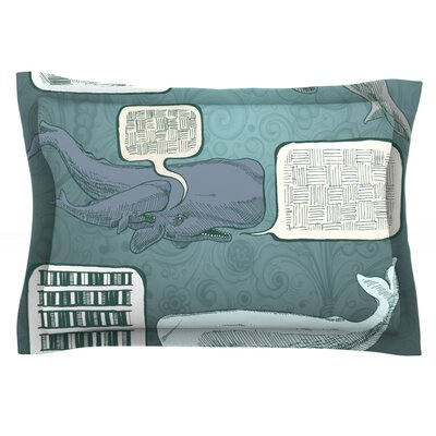 Whale Talk by Sophy Tuttle Featherweight Pillow Sham Size: King, Fabric: Cotton