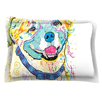 Milo by Rebecca Fischer Featherweight Pillow Sham Size: Queen, Fabric: Cotton