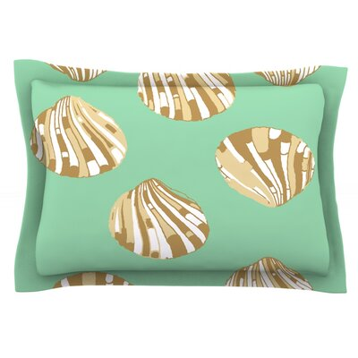 Scallop Shells by Rosie Brown Featherweight Pillow Sham Size: Queen, Fabric: Cotton