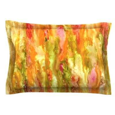 Walk in the Forest by Rosie Brown Featherweight Pillow Sham Size: Queen, Fabric: Cotton