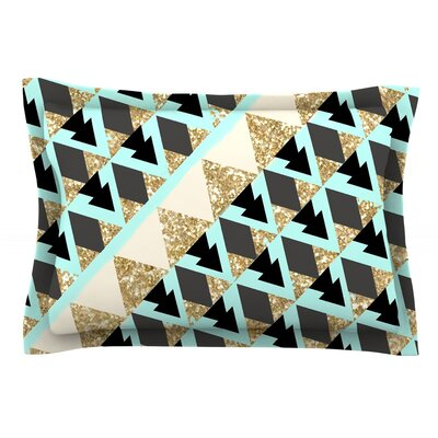Glitter Triangles by Nika Martinez Featherweight Pillow Sham Size: King, Fabric: Cotton